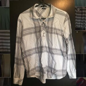 Flannel pullover